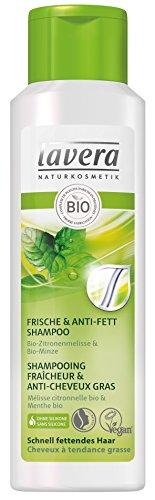 lavera Shampooing Fraîcheur & Anti-Cheveux Gras - Vegan - Cosmétiques naturels - Ingrédients végétaux bio - 100% naturel 250 ml