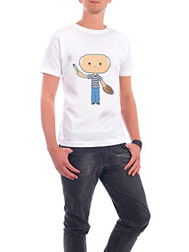 """Design T-Shirt Männer Continental Cotton """"Picasso"""" - stylisches Shirt Menschen von Cristina Castro Moral Weiß"""
