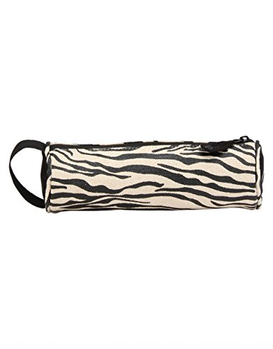 Mi-Pac Mi-Pac Pencil Case Canvas Zebra Federmäppchen, 22 cm, Schwarz (Black/White)