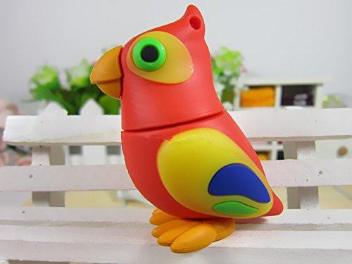 d-click TM Hochwertige, 4GB/8GB/16GB/32GB/64GB/High Speed, USB Flash Memory Stick Pen Drive Festplatte 64 GB Parrot (Parrot-sticks)
