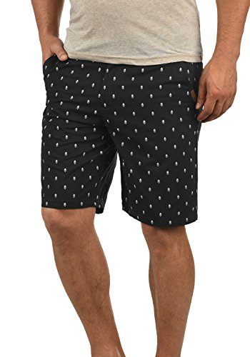!Solid Themo Herren Chino Shorts Bermuda Kurze Hose Aus 100% Baumwolle Regular Fit, Größe:XXL, Farbe:Black (9000) (Print-stretch-shorts)