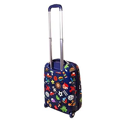 Karry-Kinder-Koffer-Reisekoffer-Trolley-Hartschalen-Handgepck-Jungs-LED-Skater-Rollen