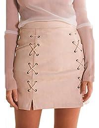 Rcool Röcke Mode Verband Wildleder Stoff a-Linie Rock Nahtlose Stretch  Engen kurzen Rock für 0cc513e901