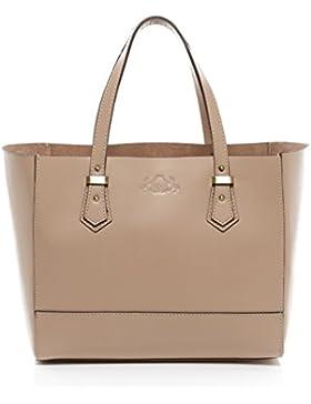 SID & VAIN® Handtasche mit langen Henkeln TRISH - Damen Schultertasche groß Ledertasche - Handtasche formstabiles...