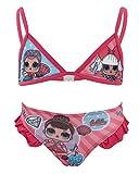 L.O.L. Surprise! - Costume Bikini 2 Pezzi con Volant Mare Piscina - Full Print - Bambina - novità Prodotto Originale con Licenza Ufficiale 18-XXX [Fucsia 070-3 Anni - 98 cm]
