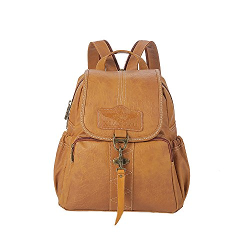 Lycailcy  LYC-Lycailcy-A09-20, Sac à main porté au dos pour femme Marron Magnetic Snap Light Brown(9.4 x 4.3 x 11 inches) Small(9.4 x 4.3 x 11 inches) Hook Camel(10.6 x 4.7 x 12.6 inches)