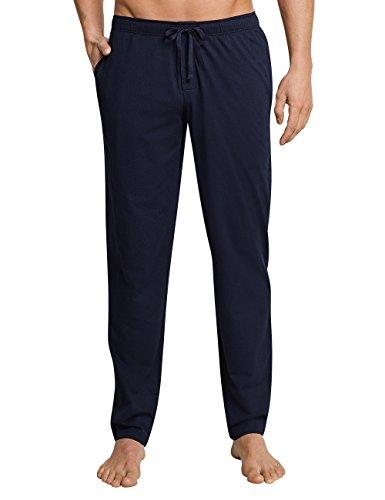 Schiesser Herren Mix & Relax Hose Lang Schlafanzughose, Blau (Dunkelblau 803), X-Large (Herstellergröße: 106)
