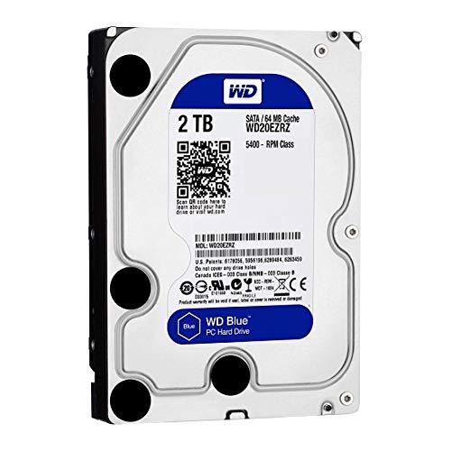 WD Blue 2TB Interne Festplatte (8,9 cm (3,5 Zoll)), SATA 6 Gb/s BULK WD20EZRZ -