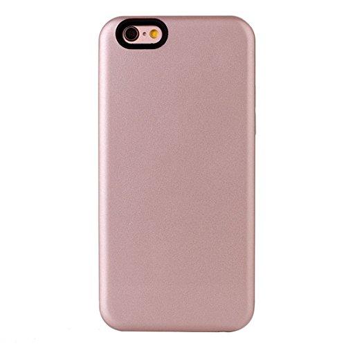 IPhone 6 u. 6s Fall TPU + PU Kombination schützender rückseitiger Abdeckungs-Fall für iPhone 6 u. 6s by diebelleu ( Color : Rose gold ) Rose gold
