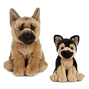 Living Nature Nature-AN487 Peluche para Perro y Cachorro, Color Black & Brown, Paquete (Keycraft AN487