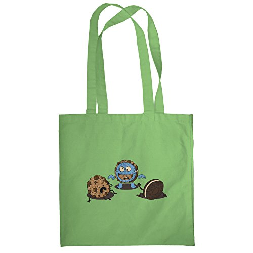 Texlab–Mostro Prank Cookie–sacchetto di stoffa Verde chiaro