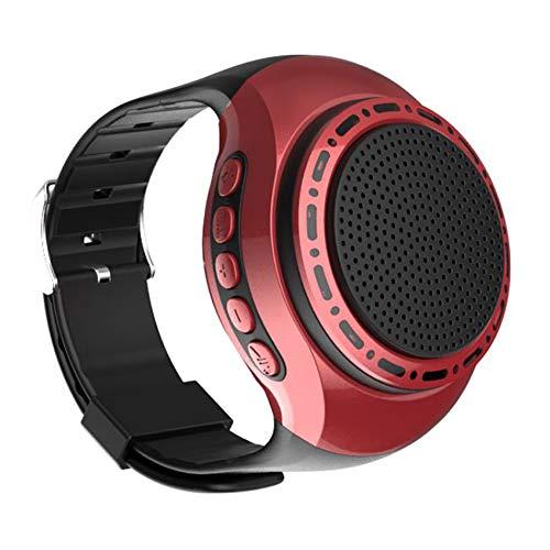 Wireless Bluetooth Lautsprecher Armbanduhr Tragbare Sport Armband MP3-Musik-Player UKW-Radio Freisprechfunktion Telefon-Anti-Verlorene TF Karten-Unterstützung Remote-Selbstauslöser 8 Beleuchtungsmodi