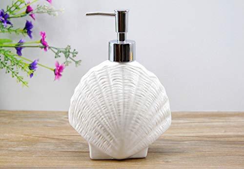 HCZ Zlgbat Badzubehör WC-Bad Schöne Keramik Emulsion Flasche Serie Cute Marine Lotion Flasche Hotel liefert Lower Block Flüssigseife Spenderflasche, E,E