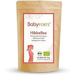 BabyFORTE Hibbeltee/Storchenglücktee 75g Bio-Kräuterteemischung Frauenmantelkraut, Himbeerblätter, Schafgarbenkraut, Gojibeeren & mehr