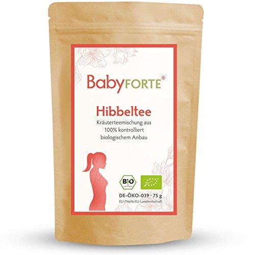 BabyFORTE Hibbeltee für Frauen • 75g Bio-Kräuterteemischung • 100% bio • Mit Frauenmantelkraut, Himbeerblättern, Zitronengras