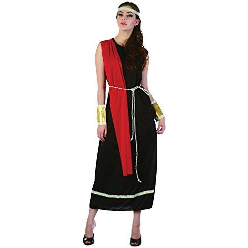 Spassprofi Kostüm Römerin Schwarze Toga Größe 38-42 Römerinkostüm Rom