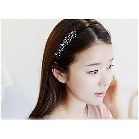 alallti Lovely stile coreano Fatto A Mano Perla fasce per capelli accessori casuale Color