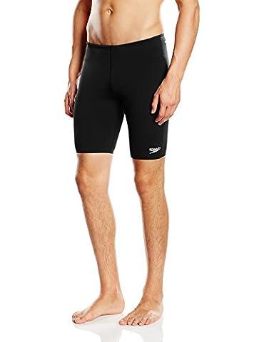 Speedo Men's Essential Endurance+ Jammer - Black, 32 inch
