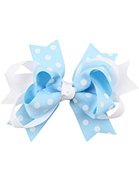 Zhhlaixing Baby Girls Bowknot Headdress Wave point Bow Headband Hairpin C043