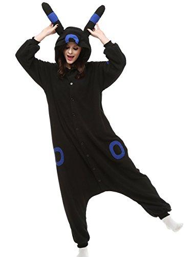 Engerla Combinaison pyjama de détente avec capuche à oreilles pour adulte motif cosplay/anime Noctali bleu
