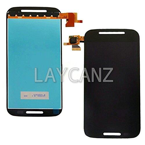 LAYCANZ Original. Moto E 1st Gen Black LCD Display + Touch Digitizer Glass
