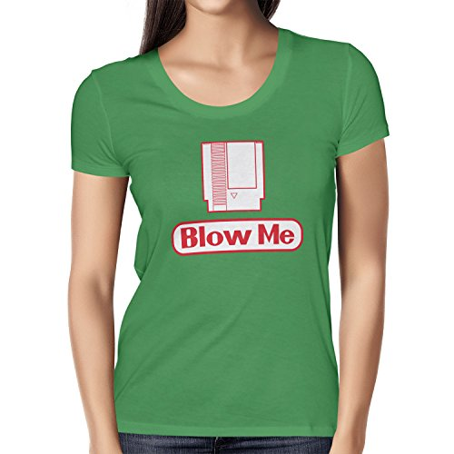 TEXLAB - Blow Me - Damen T-Shirt, Größe XL, grün