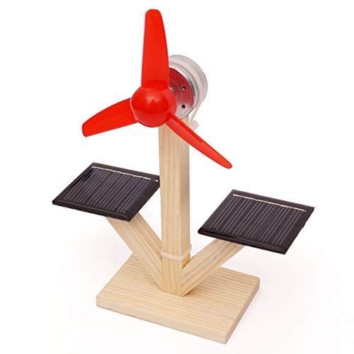 0Miaxudh Solar Fan-Modell, Kids DIY Solar Fan-Modell Building Material Science Experiment Entdeckung Spielzeug