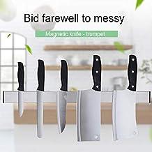 Soporte magnético autoadhesivo para cuchillos Soporte Bloque de acero  inoxidable Montado en la pared Cuchillo de 9a09f5a59095