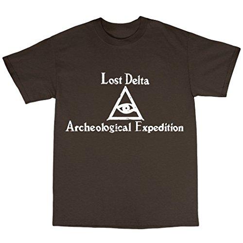 Lost Delta Archeological Expedition T-Shirt 100% Baumwolle Zartbitter-Schokolade