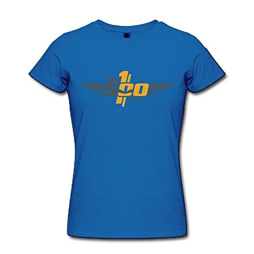 Catees Damen T-Shirt Gr. Small, Violett - Königsblau