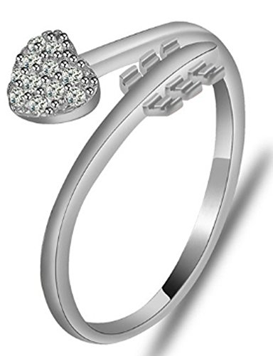 SaySure - Fine Jewelry Real 925 Sterling Silver Promise Ring