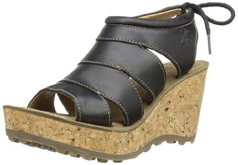 Fly London Gola, Women's Wedge Heel Sandals, Black, 6 UK