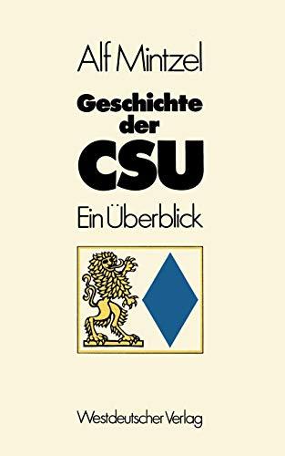 Geschichte der CSU: Ein Überblick