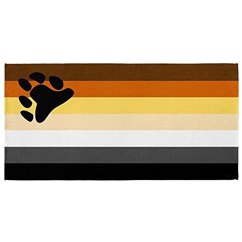 Softerry International Bear Brotherhood Flag Strandtuch Pride Parade 76,2 x 152,4 cm Widerstandsbewegung -