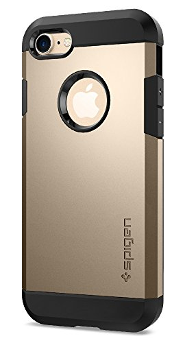 Coque iPhone 7, Spigen [Tough Armor] HEAVY DUTY [Or] Slim Dual Layer Protective Housse Etui Coque Pour iPhone 7 (2016) - (042CS20490)