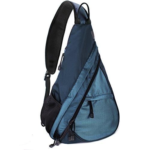 Unigear Sling-Rucksack Sling Bag Schulterrucksack Umhängetasche Daypack Crossbag Kamerarucksack mit Verstellbarem Schultergurt Perfekt für Outdoorsport, Wandern, Radfahren, Bergsteigen, Reisen,Schule (Blau)