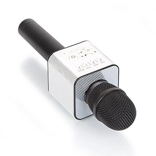 Wireless Bluetooth Karaoke Mikrofon Lautsprecher USB Handheld Mic Player KTV,Black