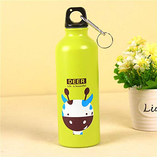 Yiszj Tasse Isolierbecher Sportflasche, Handbecher, Cartoon-Teetasse @ Fawn_401-500Ml -