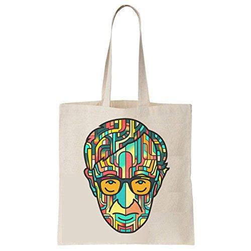 Tote Bag Imprimé Ecru - Toile en coton bio - Woody Allen