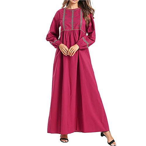 QINJLI Damen Kleid, einfache bestickte muslimische Roben lose große Taille Mutterschaft Kleid (Mutterschaft Cocktail-kleid)