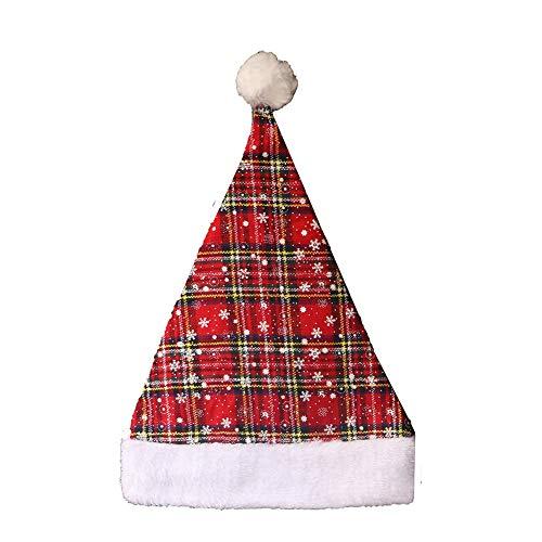 Newin Star Weihnachtsmütze Weihnachtsdekoration Zubehör Nikolausmütze für Erwachsene und Kinder (Rot ()