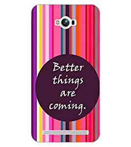 PRINTSWAG QUOTE Designer Back Cover Case for ASUS ZENFONE MAX