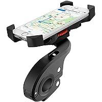 Faneam Soporte Movil Bicicleta Anti Vibración Soporte Telefono Bici Moto con 360° Rotación Universal Soporte Bicicleta Manillar para iPhone X/8/7/6S/6 Plus/Samsung Galaxy S9/S8 Plus y 4 – 6,5 Pulgadas