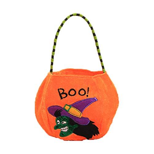 LouiseEvel215 Halloween Dekoration Requisiten Spielzeug Anzieh Accessoires Kinder tragbare Kürbis Tasche Geschenk Tasche Candy Bag