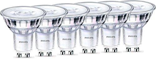 Philips LEDclassic WarmGlow Lampe ersetzt 50W, GU10, warmweiß (2200-2700 Kelvin), 345 Lumen, Reflektor, dimmbar, 6er Pack -