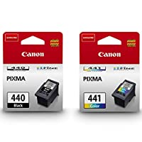 Canon 440 Black and 441 Tricolor Ink Cartridges for Printer