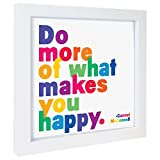 QUOTABLE Gerahmter Druck–Do more of what makes you happy
