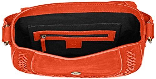 FLY London Damen Zeek602fly Umhängetasche, 2x20x24 centimeters Orange (Poppy Orange)