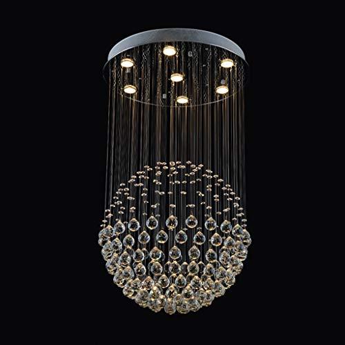 Kronleuchter Rudergerät kristall Ball Restaurant licht Schlafzimmer runde esszimmer Lampe (Color : Clear, Size : 40 * 40 * 50cm)