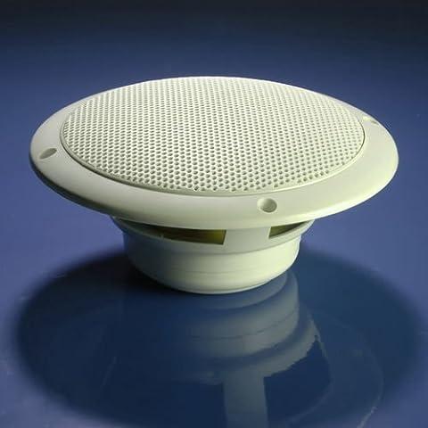 Deckenleuchte, 60 W, wasserdicht), für Küche/Badezimmer-Koaxial-Treiber, 2.54 cm Hochtöner 12.70 cm, Weiß, 1 Paar (2 Lautsprecher)